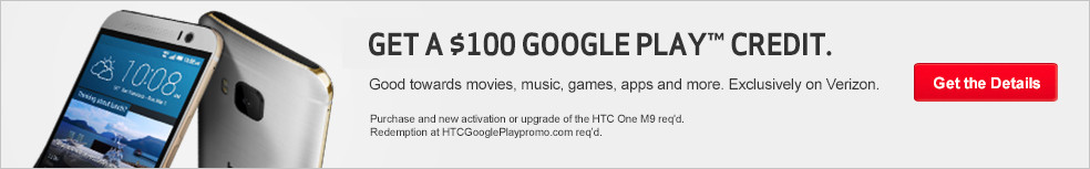 Get a $100 Google Play credit.