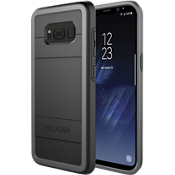 Protector Case for Galaxy S8 - Black / Light Grey