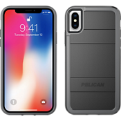 Protector for iPhone X - Black/Light Grey