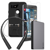 OtterBox Defender Power, Protection & Headset Bundle for Pixel 2 XL