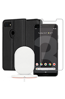 separation shoes 6b831 515c9 Case-Mate Wallet Folio Case, Protection and Wireless Charging Bundle for  Pixel 3