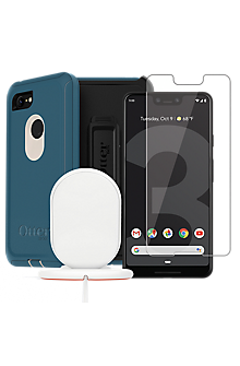 uk availability 96738 50ed4 OtterBox Defender Case, Protection and Wireless Charging Bundle for Pixel 3  XL