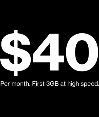 $40/mo First 3GB at high speed.<br>