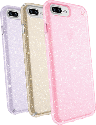 new styles fcebe b7b80 Presidio Clear + Glitter Case Giftset for iPhone 8 Plus/7 Plus/6s Plus/6  Plus