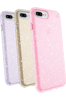 Speck Presidio Clear + Glitter Case Giftset for iPhone 8 Plus/7 ...