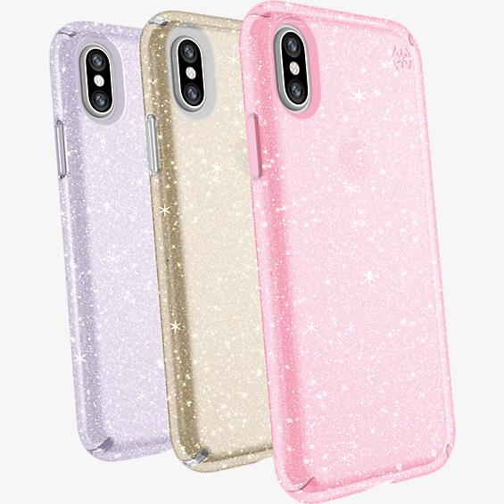 Presidio Clear + Glitter Case Giftset for iPhone XS/X