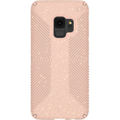 Presidio Grip + Glitter Case for Galaxy S9 - Bella Pink with Gold Glitter/Dahlia Peach