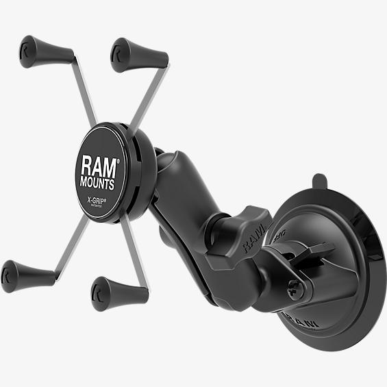 RAM Twist-Lock Suction Cup Mount with Universal X-Grip Large Phone/Phablet Cradle