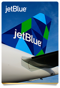 jetBlue aircraft tail end