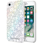 Double Up Protection Case for iPhone 7 - Floral Clear/White/Holographic Foil