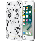 Sheer Protection Case for iPhone 7 - Marble Print Black Foil