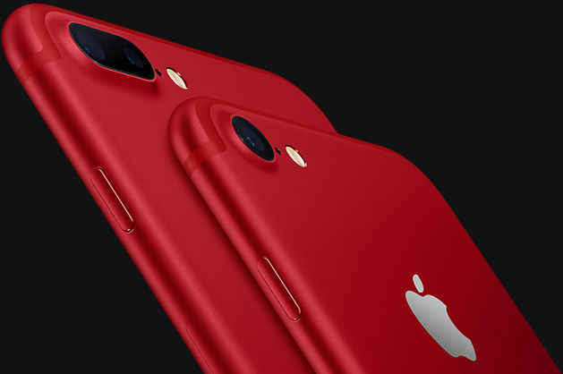 Back of iPhone 7 and iPhone 7 Plus (PRODUCT)RED