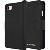 Saffiano Leather Folio Case for iPhone 7 - Black
