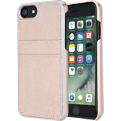 Saffiano Leather Pocket Case for iPhone 7 - Ballet