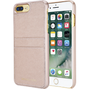Saffiano Leather Pocket Case for iPhone 7 Plus - Ballet