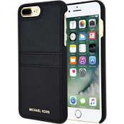 Saffiano Leather Pocket Case for iPhone 7 Plus - Black