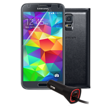 Premium Travel Bundle for Samsung Galaxy S 5 - Black