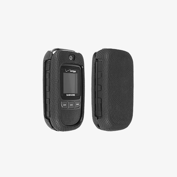 Black Rubberized Snap-On Cover for Samsung Convoy