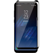 Curved Tempered Glass Screen Protector for Galaxy S8+ - Black