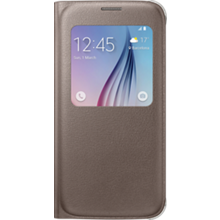 S-View Flip Cover for Samsung Galaxy S 6 - Gold
