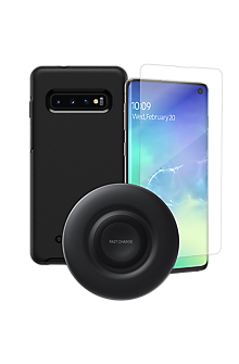 finest selection 1270b 52c47 OtterBox Symmetry Case, Protection & Wireless Charging Bundle for Galaxy S10