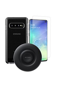 online store ded0a 5a0a4 Tech21 Evo Check Case, Protection & Wireless Charging Bundle for Galaxy S10