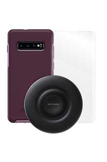 brand new c7d67 f07ab OtterBox Symmetry Case, Protection and Wireless Charging Bundle for Galaxy  S10+