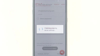 Samsung smartphone email setup