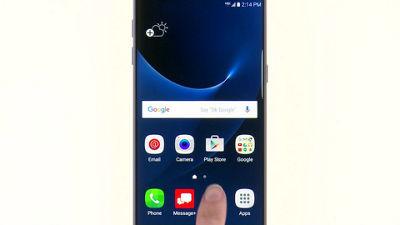 Usar la función de pantalla dividida en tu Samsung Galaxy S7 edge de Verizon
