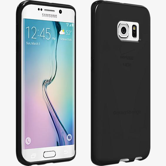 High Gloss Silicone Cover for Samsung Galaxy S 6 Edge - Black