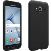 Matte Silicone Cover for Galaxy J3 V - Black