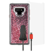Case-Mate Waterfall Case, Protection and Car Charging Bundle for Galaxy Note9