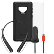 Otterbox Commuter, Protection and Car Charging Bundle with Headset for Galaxy Note9