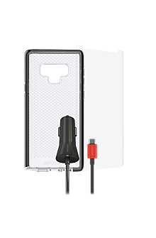 Tech21 Evo Check Case, Protection and Car Charging Bundle