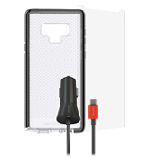 Tech21 Evo Check Case, Protection and Car Charging Bundle for Galaxy Note9