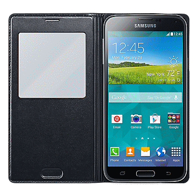 newest f06fd 94165 S-View Cover for Galaxy S5