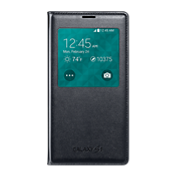 Samsung S-View Flip Cover for Galaxy S 5 - Carbon Black