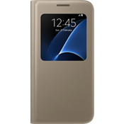S View Cover for Samsung Galaxy S7 - Flat Gold