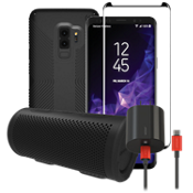 Speck Presidio Grip, Charge Protection & Stereo Bundle for Galaxy S9+