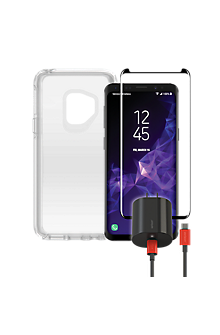 promo code 27588 6d958 OtterBox Symmetry Clear Power & Protection Bundle for Galaxy S9