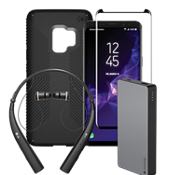 Speck Presidio Grip, Power, Protection & Headset Bundle for Galaxy S9