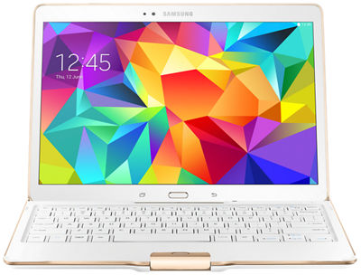Samsung Tab S 10.5 Bluetooth Keyboard Case - Dazzling White