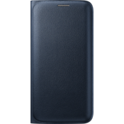 Wallet Flip Cover for Samsung Galaxy S 6 Edge - Black