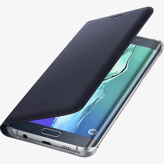 Wallet Flip Cover for Samsung Galaxy S 6 edge+ - Black Sapphire