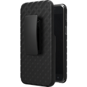 Shell Holster Combo Case for Galaxy 3rd Gen J3/J3V - Black