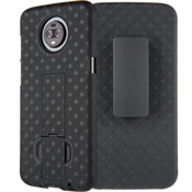 Shell Holster Combo Case for moto z3 - Black