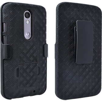 Shell Holster Combo with Kickstand for DROID Turbo 2 - Black