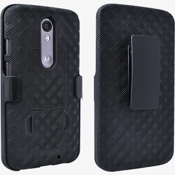Shell Holster Combo with Kickstand for DROID Turbo 2