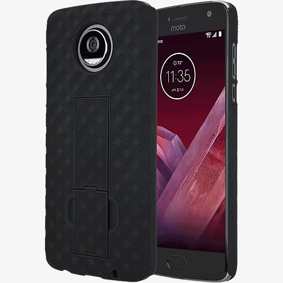 Shell Holster Combo for Moto Z2 Play - Black