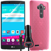 Silicone Bundle for LG G4 - Pink